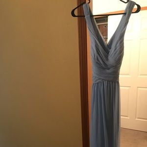 David's Bridal Mesh Bridesmaid Dress